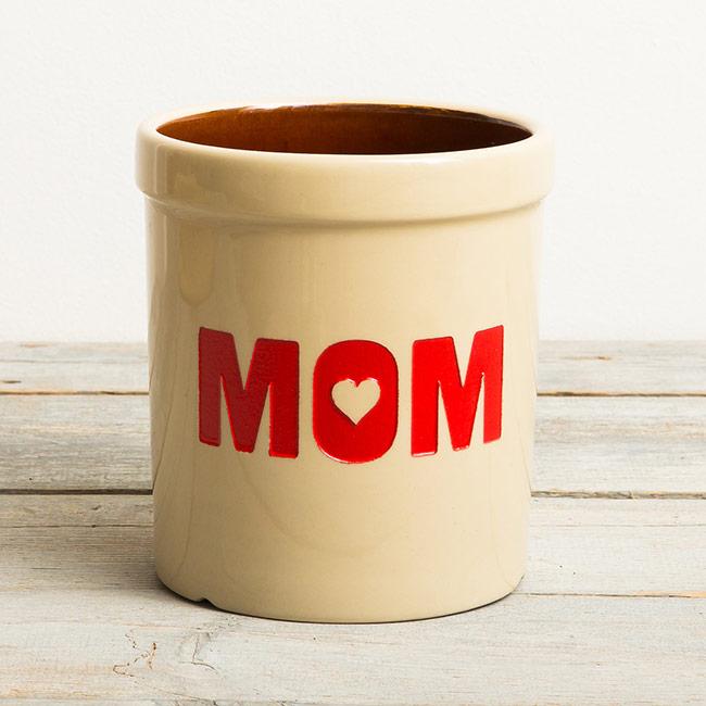 Mom Heart Crock
