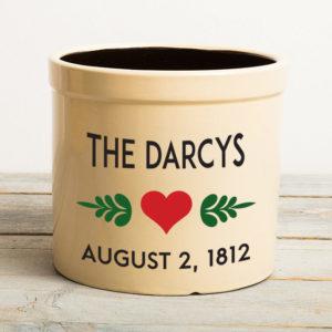 The Darcys Wedding Crock