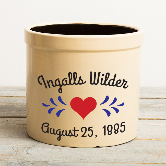 Ingalls Wilder Wedding Crock