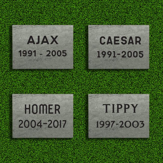 Small Slate Tile Memorials Plain