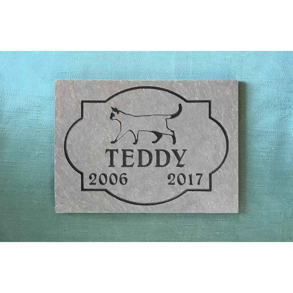 small slate tile Teddy, full design