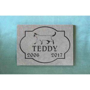 small slate tile Teddy, full design