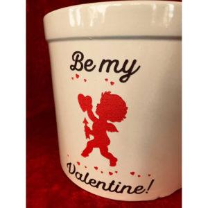 Be My Valentine 2-gallon crock (close-up)